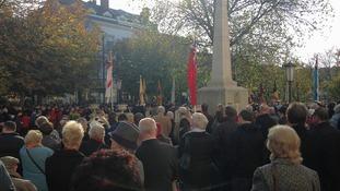 Hundreds of people attend remembrance service Cheltenham