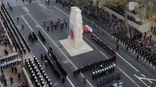 Queen leads tributes to the fallen at Cenotaph