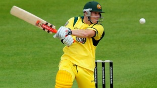 Australia's David Warner during their recent Tour Match at Grace Road, Leicester.