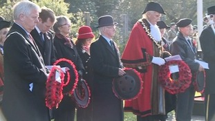Remembrance Sunday is marked in Taunton