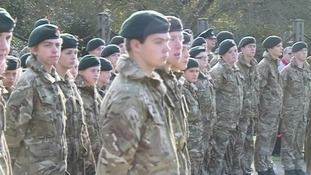 Several thousand attend event including serving soldiers and cadets