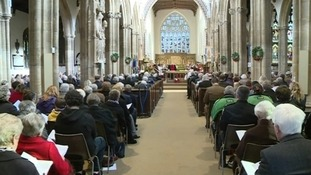 A service is held in St Mary Magdalene, Taunton