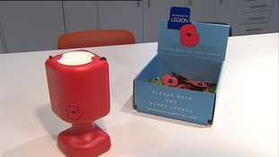 14 poppy collecting tins have been taken