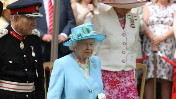 The Queen is greeted at the Henley Business school in Oxfordshire