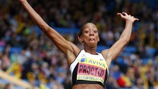 Birmingham's Shara Procter set a British record