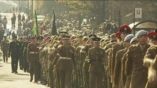 Remembrance parade in Sunderland