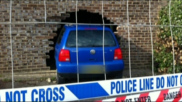 Car crashes into house - Colin N