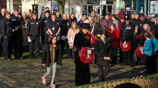 Sedgefield remembers: poppies laid on war memorial