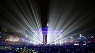 The 'Border of Light' was released at a ceremony in central Berlin.