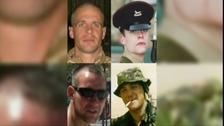 Colour Sergeant Martyn Horton, Lance Corporal David Ramsden, Private Douglas Halliday and Private Alex Isaac