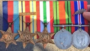 Social media users try to find the owner of these medals found at the Cenotaph at the weekend