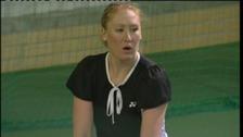 Elena Baltacha training at Ipswich Sports Club