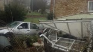 Car crashes into conservatory in Sancton near Market Weighton
