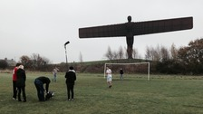 Filming has been next to the Angel of the North.