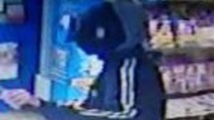 CCTV picture from the newsagents