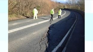 Kelston road cracks