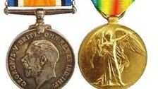 The two First World War medals stolen on Saturday
