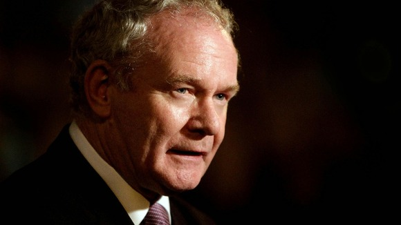 Northern Ireland Deputy First Minister and ex-IRA commander Martin McGuinness