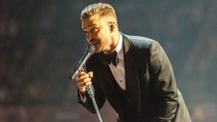 Justin Timberlake takes to the stage for his 20/20 Experience World Tour first UK show at the Sheffield Motorpoint Arena