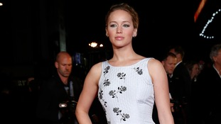 Actress Jennifer Lawrence arrives for the world premiere of The Hunger Games: Mockingjay Part 1 at Leicester Square.
