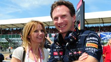 Former Spice Girl Geri Halliwell and her fiance Formula One boss Christian Horner.
