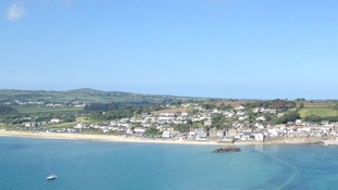 The shoreline at Marazion