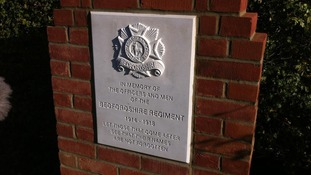 Memorial made to honour the Bedfordshire Regiment