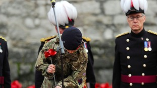 Cadet Harry Hayes plants final poppy