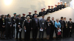 Midhurst Rother College held the commemorative ceremony in honour of Corporal David O'Connor.