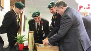 The plaque was unveiled by Captain Michael O'Kelly, who was a seaman officer in the Royal Navy for 34 years and is now a Trustee of the College.