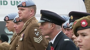Service personnel at the ceremony in Stowmarket