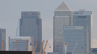 A view of Canary Wharf