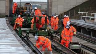 Rails for the Borders Railway crossed into the Scottish Borders for the first time in 45 years yesterday (Wed 5 No