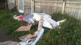 Christopher Beard, from Gillingham, dumped rubbish at Cinder Path.