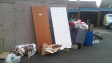 Matthew Towers, 35, dumped rubbish in Romany Road.