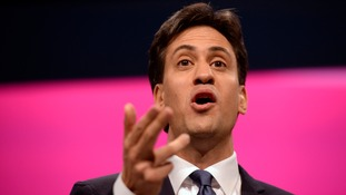 Ed Miliband speaking at the Labour conference in September.