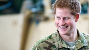 Prince Harry at RAF Honington in 2012