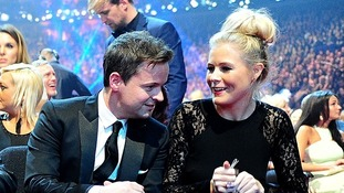 Declan Donnelly and Ali Astall at the 2014 National Television Awards