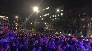 The crowds wait for the big Christmas Lights switch-on