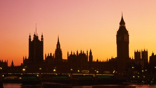 Houses of Parliament at sunset.