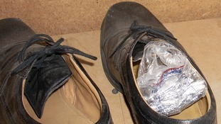 Drug wraps found in a shoe