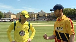 Clarke wins the toss