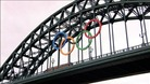 Olympic rings over the Tyne