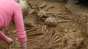 5th century woman buried with cow
