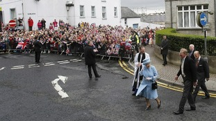 The Royals' during a walkabout in Enniskillen.
