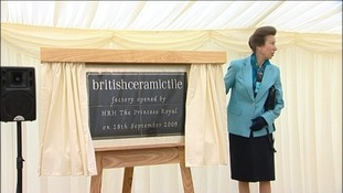 Part of the Newton Abbot factory was opened by Princess Anne in 2009