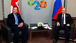 Cameron and Putin met privately at the summit earlier today.