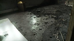 Keeley Cooper's flat after the fire broke out