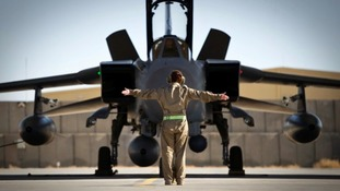 Tornado jets on the ground in Afghanistan.