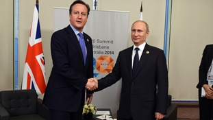 David Cameron and Vladimir Putin
